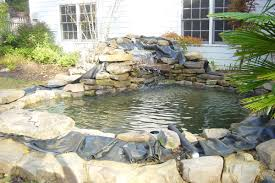 wonderfull design koi pond waterfall fetching backyard pond design