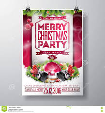 vector merry christmas party design with holiday typography