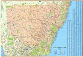 map of new south wales new south wales ubd wall map 270 buy wall map of nsw mapworld