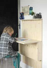 Fold Out Desk Diy Diy Fold Away Desk Growing Spaces Throughout Flip Desk