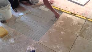 Floor Tile Installers How To Install Travertine Floor Tile Presented By Asap Plumbing