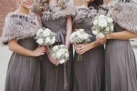 winter bridesmaid dresses cozy winter wedding winter weddings winter and fur