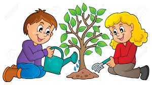 kids planting tree theme image 1 eps10 vector illustration