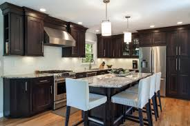 Restaining Kitchen Cabinets Darker L Espresso Staining Kitchen Cabinet With Dark Walnut And