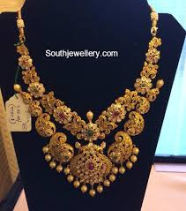 new necklace design images Antique gold paisley design necklace jewellery designs jpg