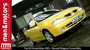 top 10 convertibles 2001 renault megane convertible youtube