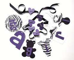 zebra baby shower the grace purple baby shower decorations liviroom decors