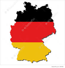 Map Og Germany by Signs And Info Map Of Germany With Flag Stock Illustration