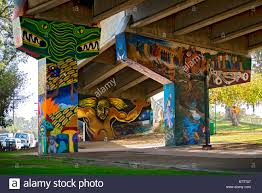 murals and artwork at chicano park barrio logan san diego stock the mural colossus at chicano park barrio logan under the san diego coronado