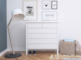 Already Assembled Bedroom Furniture by Chest Of Drawers Tallboy White B2c Furniture