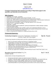 Resume Samples Network Technician by Desktop Support Technician Resume Free Resume Example And