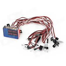 12 led flashing light kit for 1 10 r c car red black white