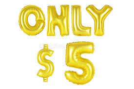 alphabet balloons only five dollars gold color stock image image of concepts