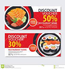food templates free download discount voucher asian food template design japanese set stock discount voucher asian food template design japanese set stock vector