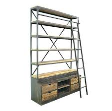 industrial bookcase with ladder u2013 simpleclick me