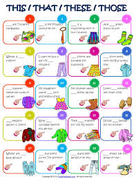sample of worksheet for demonstrative pronouns teaching esl to