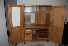 Oak Computer Armoire by Antique Oak Armoire Wardrobe Corner Desk Ikea Monitor Stand