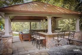 gorgeous outdoor pavilion for high end backyard living space photo