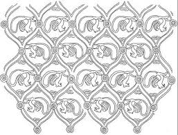 cm type ornamental patterns of the noble visitors in a figure