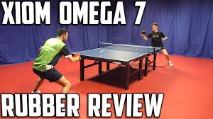 table tennis rubber reviews xiom omega vii euro and pro rubber review youtube