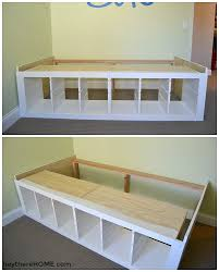 Twin Bed With Storage Diy Twin Storage Bed Ikea Hack