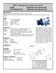 potable water pumps park model 3 3 gpm shurflo pdf catalogue