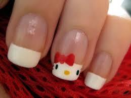 cute hello kitty nail art youtube