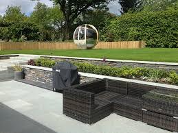 contemporary garden design goscote practice slate gardens uk wall