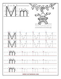 Preschool Worksheet Printable Letter M Tracing Worksheets For Preschool Bobbi Likes