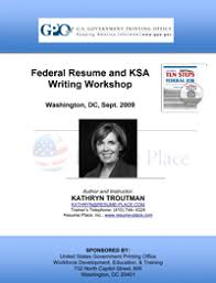 Sample Federal Resume by Federal Resume And Ksa Writing