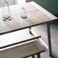 oak trestle dining table witham oak trestle bench by rowen u0026 wren notonthehighstreet com