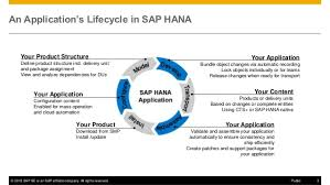 what u0027s new in sap hana sps 11 application lifecycle management