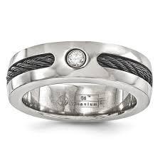 sti wedding ring men s silver wedding bands