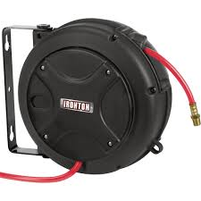 ironton mini air hose reel u2014 with 1 4in x 26ft hybrid polymer