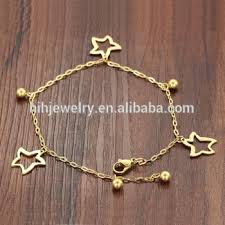 gold plated charm bracelet images 2017 fashion jewelry starfish anklets wholesale stainless steel jpg