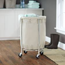 Dark Brown Laundry Hamper by Laundry Room Splendid Laundry Hampers With Wheels Round