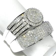 wedding rings sets for him and his and hers wedding ring sets cheap blushingblonde