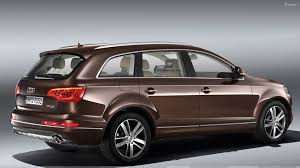 Audi Q7 2010 - side pose of 2010 audi q7 30 tdi in brown wallpaper