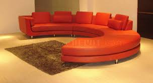 red leather ultra modern modular 4 piece sectional sofa a94