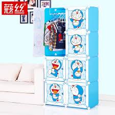 Closet Storage Cabinets 8 Cubes Children U0027s Cartoon Wardrobe Closet Storage Cabinet