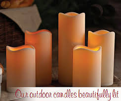 outdoor battery operated candle 4 5 x 9 with timer batteries