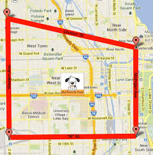 Map Of Chicago Illinois by My Favorite Pups
