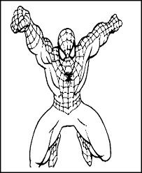 coloring alluring spiderman print coloring pages