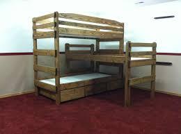 Tri Bunk Beds Uk Bedroom Bedroom Tier Bunk Bed With Blankets And