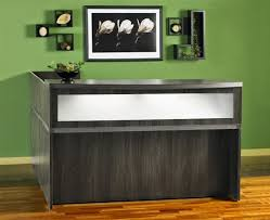 L Shaped Reception Desks At36lgs Gray Steel Finished L Shaped Reception Desk With Storage