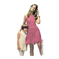 crochet dress pattern womens u0026 girls shell summer dress