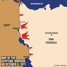 Sinai Peninsula On World Map by 1973 Yom Kippur War Day By Day