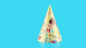 happy birthday hat happy birthday hat with stock footage