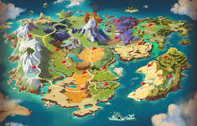 Naruto World Map by Dragomon Hunter Unveils Its Complete World Map Mmohuts