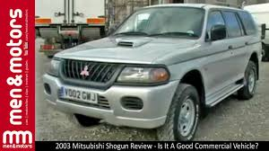 2003 mitsubishi shogun review is it a good commercial vehicle